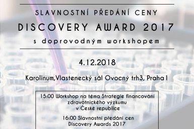 Hlavní obrázek - Ceny Discovery Award pro mladé výzkumníky